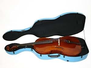 Étui de violoncelle Hima en fibre de carbone ultra-léger - bleu ciel