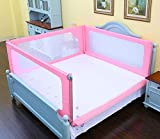 Sponda letto sponda di sicurezza Bed Rails For Children 4 Panel Pink Neonate Boys Bambini Bedrail Di Sicurezza Full Size Twin Xl (dimensioni : 1.5 * 2m)