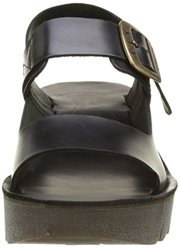 FLY London Damen Yail907fly Wedge Sandalen Schwarz (Black 000)