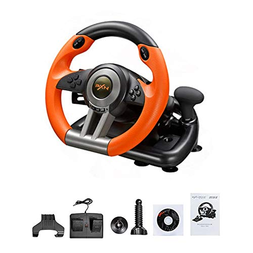 Purplert Racing Wheel - Halterung PC / PS3 / PS4 / X-One Lenkrad Simulation Racing Simulation Schule Bedienung Auto - orange