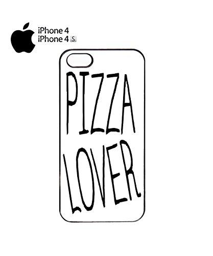 Pizza Lover Italian Funny Mobile Phone Case Back Cover Coque Housse Etui Noir Blanc pour for iPhone 5c White Noir