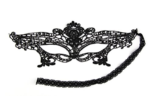 Exquisite Spitze Augenmaske für Masquerade Party Fancy Kleid Schwarz (Sexy Masquerade Kleid)