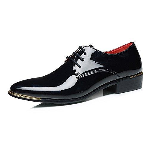 Sunny&Baby Zapatos Charol PU Hombres Cordones Mocasines