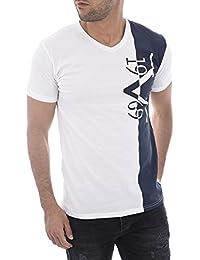 bf4e9dcd341203 Versace 19.69 Abbigliamento Sportivo SRL T-Shirt Blau Weiß Logo Print L