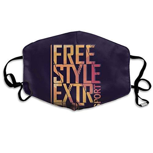 liang4268 Mundmasken Anti Dust Mask Free Style Anti Pollution Washable Reusable Mouth Masks Unisex for Women Teens Men (Freestyle Kostüm Zu)