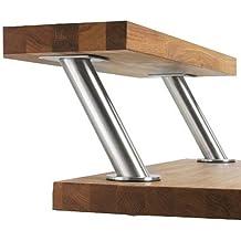 IKEA CAPITA–Juego de 2patas de acero inoxidable