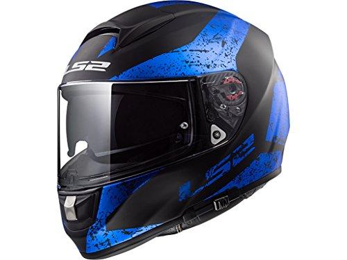 Helm LS 2 FF397 FT2 Vector Evo Sign schwarz/blau/matt, M (Motorrad Helm Evos)