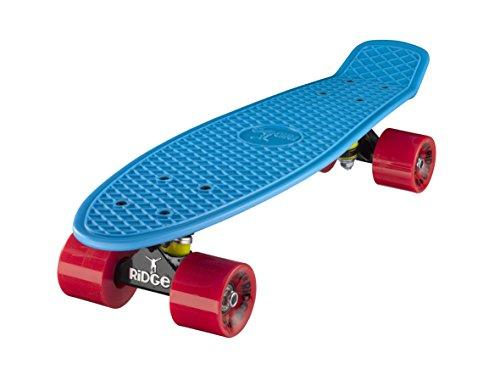 """Ridge Mini Cruiser Skate Skateboard retro 22"""" completo con carrelli nero o bianco, fatto in l'UE, cuscinetti ABEC 7, alta qualità formula segreta di plastica"""