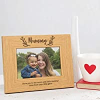 Mummy Photo Frame Personalised Gifts for Mum - Mothers Day gifts from Daughter - Wooden Engraved Picture Frame Mummy - 6x4 / 7x5 / 8x6 Size frames Available