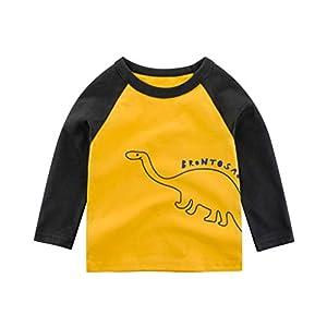 K-Youth para 1 a 7 años Ropa Bebe Niño Otoño Invierno Camiseta Manga Larga Bebe Blusa de Niños Estampado de Animal Ropa… 5