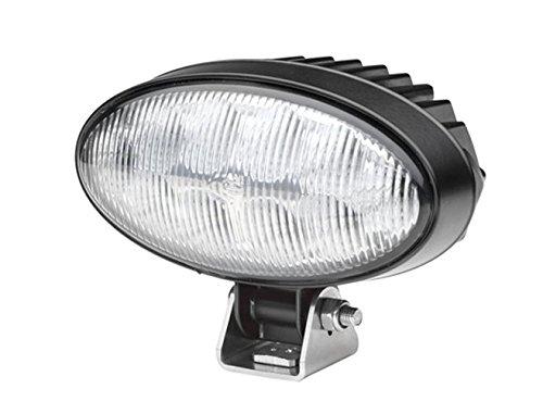 Oval Flutlicht (HELLA  1GB 996 386-001 Oval 90 LED,  Arbeitsscheinwerfer, Nahfeldausleuchtung, 10 Power LEDs, 1.700 Lumen, stehender/ hängender Anbau, schwarzes Aluminiumdruckgussgehäuse, 12V/ 24V)