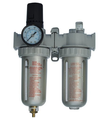 "Toolscentre 80 Heavy Duty 1/4"" Air Filter Regulator and Lubricator Unit"