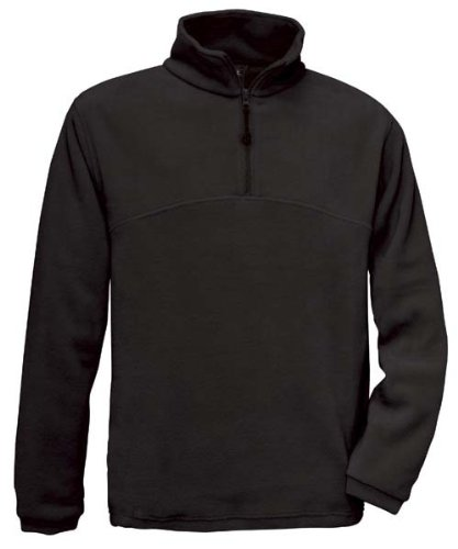 Fleece Sweater 'Highlander+' mit 1/4 Reißverschluss Black