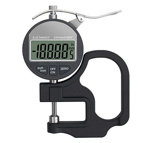 Digital-Dickenmesser mit genauer LCD-Anzeige 0-12.7mm beweglicher elektronischer Prozentsatz-Stärke-Meter-Zoll metrisch