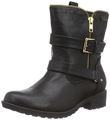 Buffalo  332229 GM SNP 1, Bottes de motard de hauteur moyenne, doublure froide femmes Noir - Noir (01)