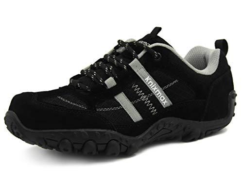 Knixmax Wanderschuhe Atmungsaktiv Trekking Schuhe Herren Damen Sports Outdoor Anti-Rutsch-Sohle Hiking Boots Man Woman Trekking-& Wanderhalbschuhe Sneaker EU 40-(UK 7) Schwarz