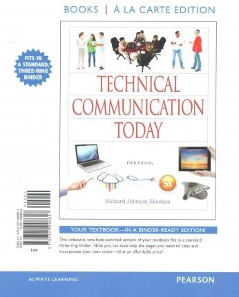 By Johnson-Sheehan, Richard ( Author ) [ Technical Communication Today, Books a la Carte Plus Mywritinglab with Etext -- Access Card Package By Aug-2014 Paperback