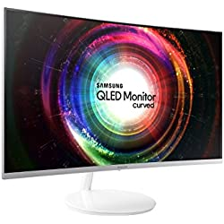 "Samsung C27H711 27"" Wide Quad HD VA Monitor para PC - (300 cd/m², 2560 x 1440 Pixeles, 4 ms, LED, Wide Quad HD), Color blanco"