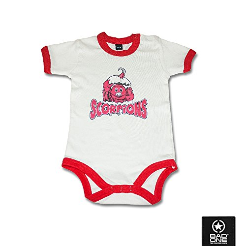 "Hannover Scorpions Baby Body ""Baby Scorpi"", Weiß/Rot, 6-12 Monate"
