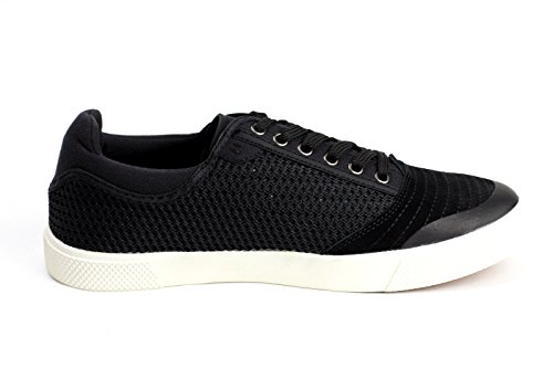 Jas Hommes De Mode Casual Dentelle Leather Basse Conduite Chaussures Italiana Fashion Noir