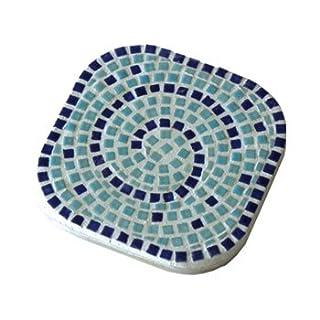 ALEA Mosaic Mosaik Bausatz, 2 Untersätze, Pastelltürkis