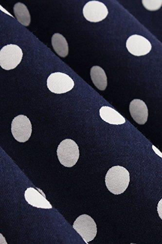 Les Femmes En Robe De Soirée À Pois Vintage Rockabilly Cocktail Navy