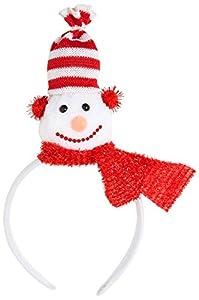 WIDMANN?Diademas Muñeco de nieve Unisex-Adult, rojo, talla única, vd-wdm15117