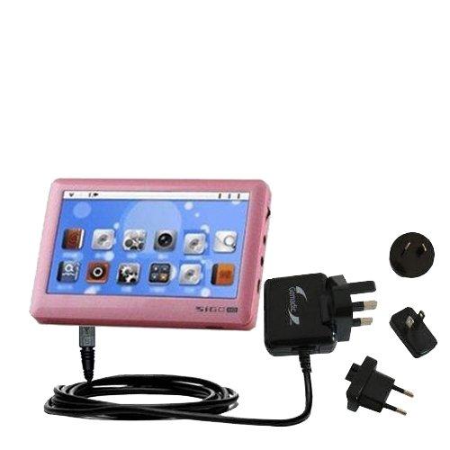 10W Gomadic Steckdosen-Ladegerät AC kompatibel mit Pyrus Electronics Sigo mit Energiesparmodus und TipExchange
