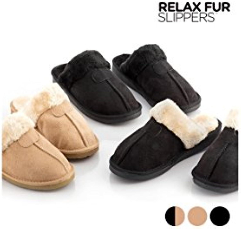 Welzenter Relax Fur, Zapatillas de casa para Mujer