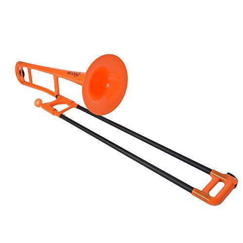 pBone 700647 Posaunen mit Tasche und Mundstück orange