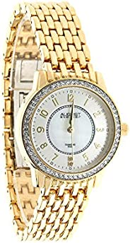 August Steiner AS8246 Crystal Women's Watch – Designer Stainless Steel Band – Mother of P