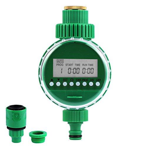 Vegkey Elektronische Wasser Timer, Bewässerungsuhr, Automatische Bewässerung Timer mit LCD Display Digital Bewässerung Controller für Garten