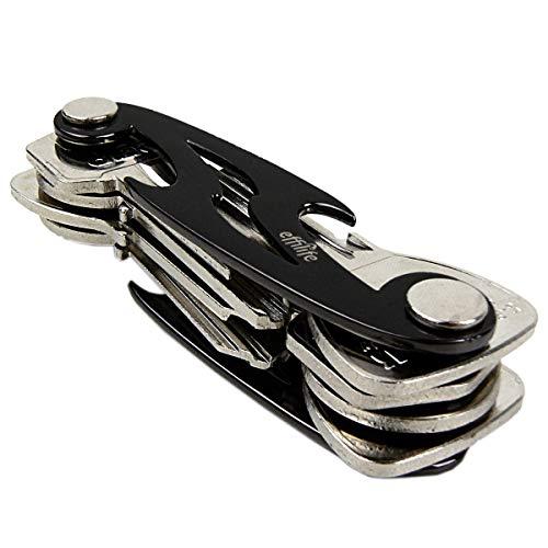 Schlüssel-Organizer / Schlüsselhalter / Key Organizer Kompakt und Flach, Schwarze