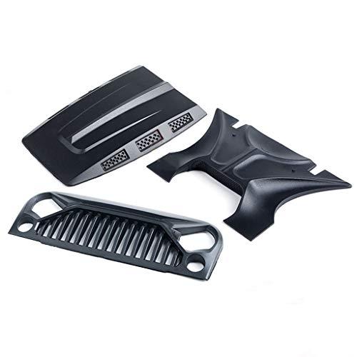 Luft Einlass Gitter Vorderseite Gesicht & Motor Kapuze kompatibel mit 1/10 RC Rock Crawler Axial SCX10 Kühlergrill vorne Hood Cover (B) -