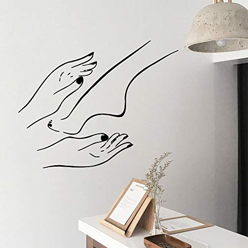 yiyiyaya Hot Nail Salon Home Decoration Accessori per Bambini Camere Decorazione Wall Art Decalcomania caffè L 43cm X 54cm