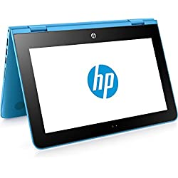 "HP x360 11-ab001ns - Ordenador Portátil Convertible de 11.6"" HD (Intel Celeron N3060, 4 GB RAM, HDD 500 GB, Intel HD Graphics 400, Windows 10); Azul Aqua - Teclado QWERTY Español"