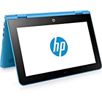 "HP x360 11-ab001ns - Ordenador Portátil Convertible 11.6"" HD (Intel Celeron N3060, 4 GB RAM, HDD 500 GB, Intel Graphics, Windows 10), Color Azul - Teclado QWERTY Español"