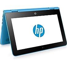 "HP x360 11-ab001ns - Ordenador Portátil Convertible de 11.6"" HD (Intel Celeron N3060, 4 GB RAM, HDD 500 GB, Intel HD Graphics 400, Windows 10); Azul Aqua - Teclado QWERTY Español"