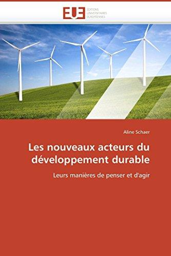 Les nouveaux acteurs du développement durable