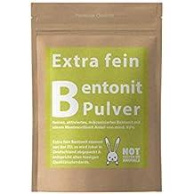 vitalundvegan.com Bentonit Polvo extrafino Mineralerde Tonerde Pur - 500-2500g Premium Calidad con