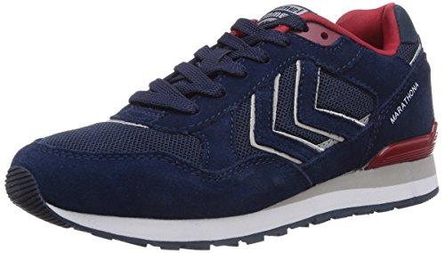 hummel HUMMEL MARATHONA, Unisex-Erwachsene Sneakers, Blau (Dress Blue 7459), 43 EU