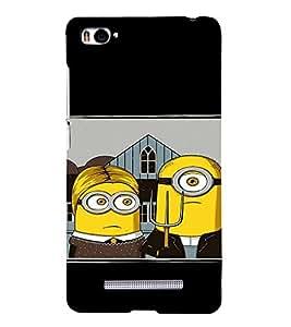 EPICCASE Mr Mrs. Minion Mobile Back Case Cover For Xiaomi Redmi Mi4i (Designer Case)