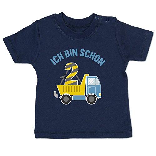 Geburtstag Baby - Ich Bin Schon 2 LKW - 18-24 Monate - Navy Blau - BZ02 - Baby T-Shirt Kurzarm