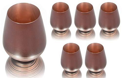 GlasGo Wunderschönes Design Trinkglas, 6er-Set, Wasser, Saft, Wein, Longdrinks mit handgefertigtem...