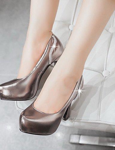WSS 2016 Chaussures Femme-Habillé / Soirée & Evénement-Rouge / Argent / Gris / Or-Gros Talon-Talons / A Plateau / Bout Arrondi-Chaussures à Talons- gray-us5.5 / eu36 / uk3.5 / cn35