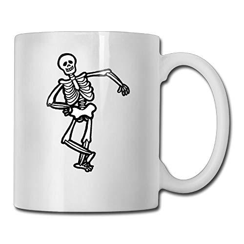 Halloween Skeleton 11oz Ceramic Coffee Mug Unique Birthday Christmas and Inspirational Gift