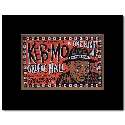 keb-mo-gruene-hall-texas-2003-matted-mini-poster-24x16cm