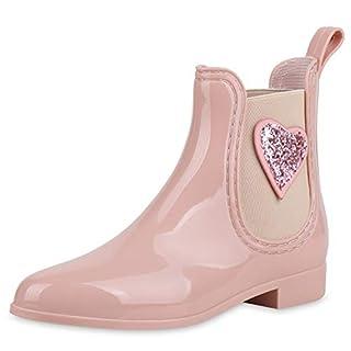953b4a7ec8a360 SCARPE VITA Damen Stiefeletten Gummistiefel Lack Regenstiefel Glitzer Boots  169872 Rosa 39