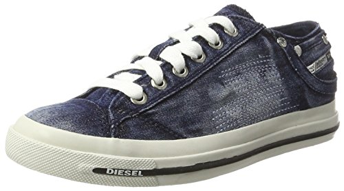 Diesel Damen Magnete Exposure IV Low Sneaker, Blau (Indigo), 40 EU (Low Exposure Sneaker)