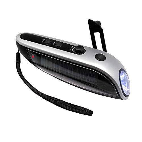 Idyandyans Notfall-Dynamo-Taschenlampe Auto-Nothammer Cutter Kompass bewegliche Energien-Bank-Taschenlampe -